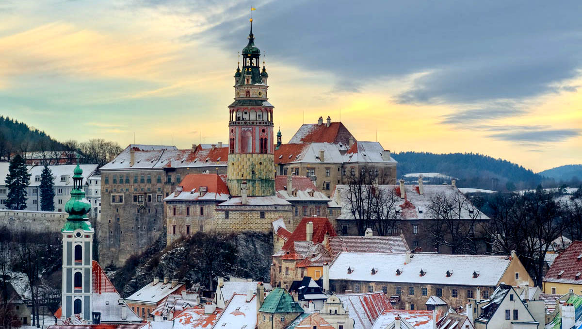 Чешский Крумлов (ЮНЕСКО) и замок Глубока-над-Влтавой